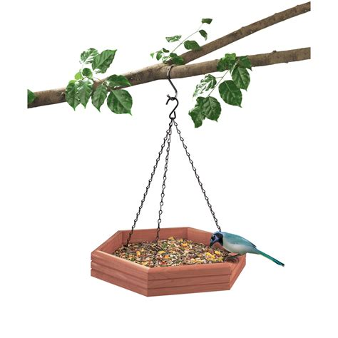 shop garden treasures wood platform bird feeder at lowes com