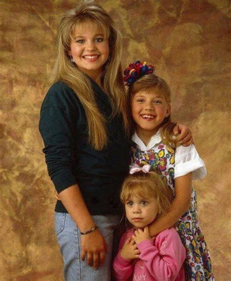 full house little girl candace cameron as d j jodie sweetin as stephanie mary kate ashley olsen as