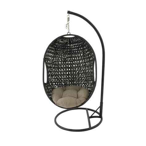 round swing chair hanover outdoor wicker rattan hanging egg chair swing with