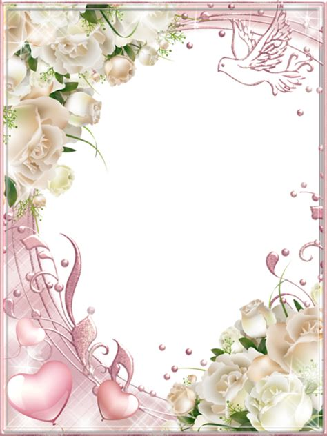 cards transparent background template for a 4x6 white roses pink png photo frame gallery yopriceville
