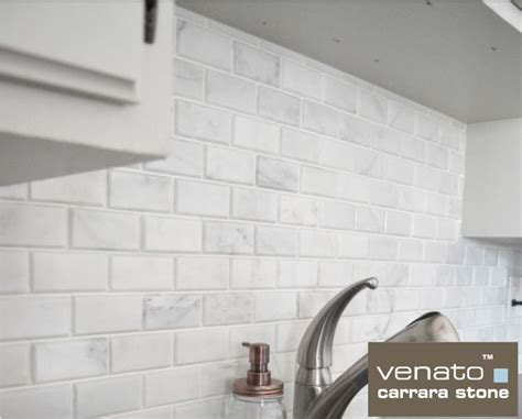 2x4 Beveled Subway Tile Backsplash by 8 50sf Beveled 2x4 Quot Carrara Venato Marble Mosaic Tile
