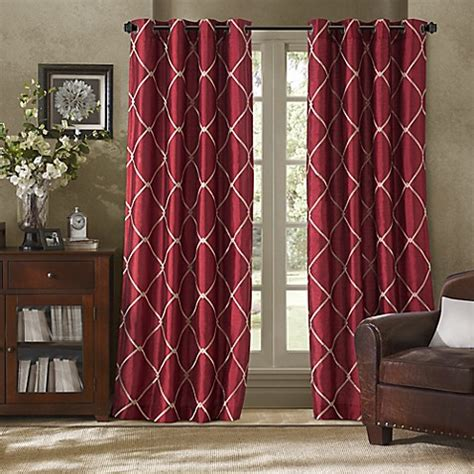 bed bath and beyond grommet curtains bombay garrison grommet window curtain panel bed bath