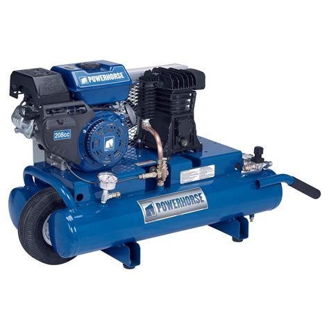 free shipping powerhorse gas tank air compressor 208cc engine 8 gallon gas powered