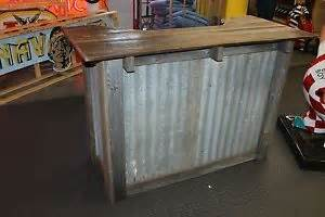 Kitchen Islands For Sale Ebay rustic dry bar stand w corrugated metal and wood ebay
