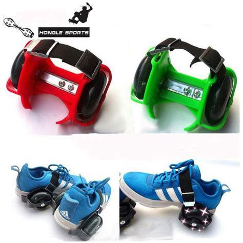 shoe roller skates for children sporting pulley lighted wheels heel