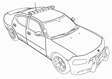 coloring page police car police car coloring page coloring pages pinterest