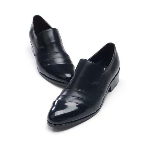 mens diagonal wrinkles loafes