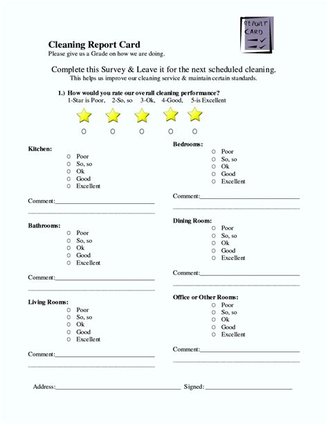 house cleaning estimate forms free template update234