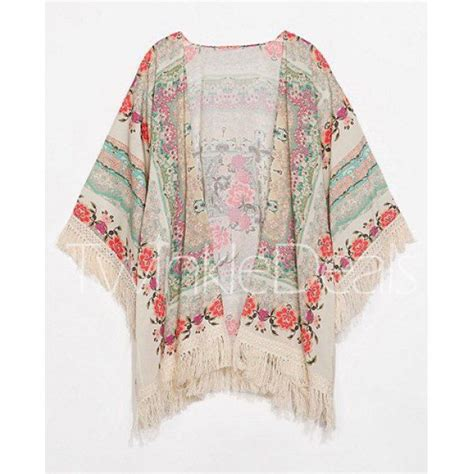 Import Flower Chiffon Fringe Tassel Cardigan Luaran Outer Merah Sifon color button asymmetric blouse light blue kimonos style and you think