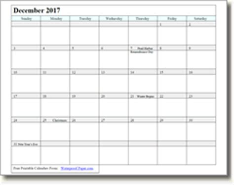 printable december 2017 calendar waterproof december 2018 printable calendars print as many as you want