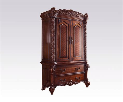 bassett tv armoire acme vendome traditional tv armoire in cherry 22007