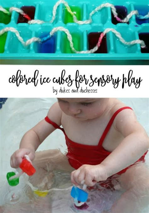 for colored play sensory play colored cubes dukes and duchesses