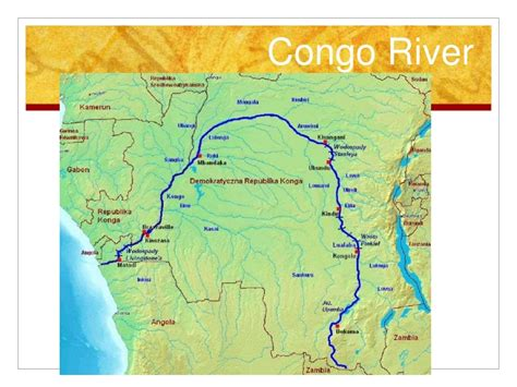 congo river map africa slideshow regional features