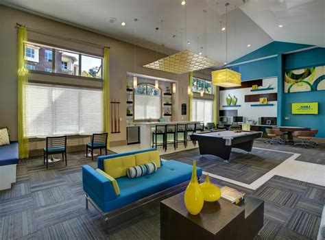 clubroom with tables and billiards at amli at barrett