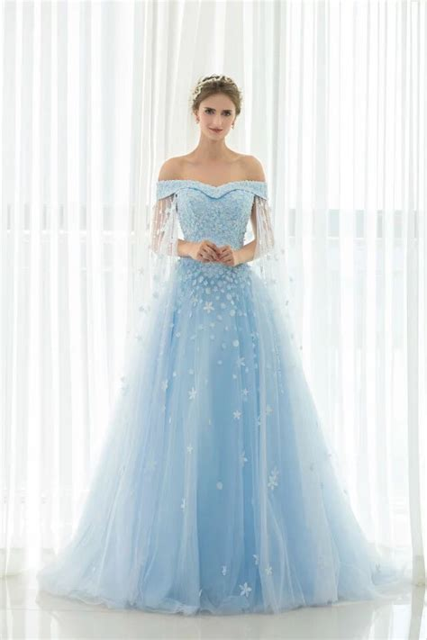 real photos marvelous sky blue wedding dresses gowns