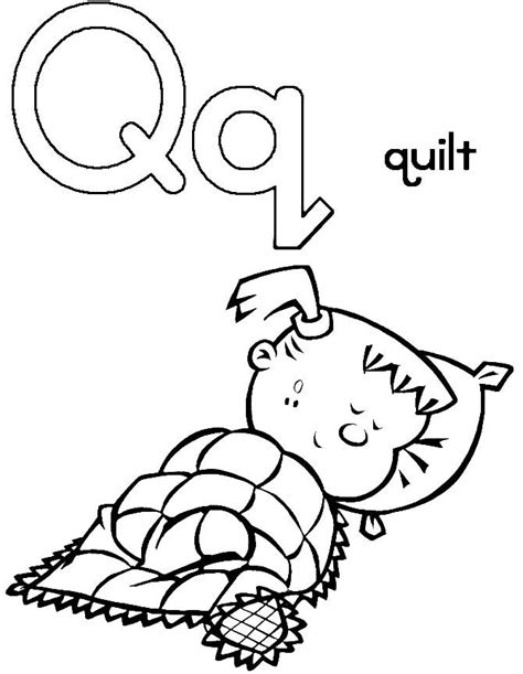 Q For Quilt Coloring Page by Q For Quilt Coloring Pages Pattern Design Ideas