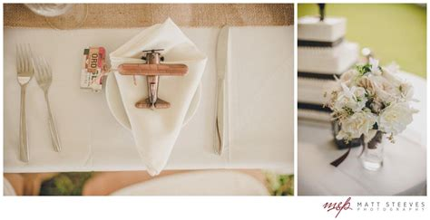 Airplane Giveaways - aviation themed wedding historic florida wedding