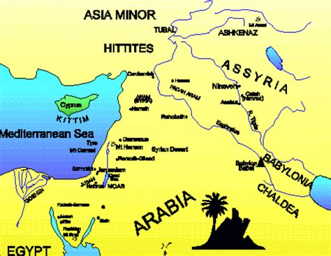 middle east map bible times bible places bible maps