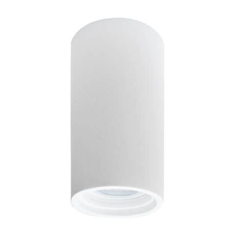 faretto soffitto faretto esterno da soffitto a tubo h14 in gesso bianco