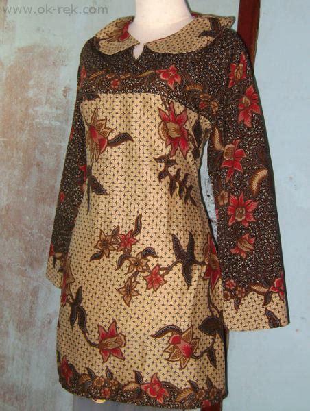 Tunik Batik Intan grosir baju muslim murah blus batik dua