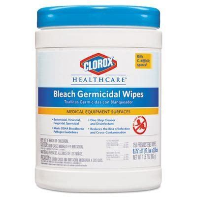 clorox healthcare bleach germicidal wipes     wipe canisters case