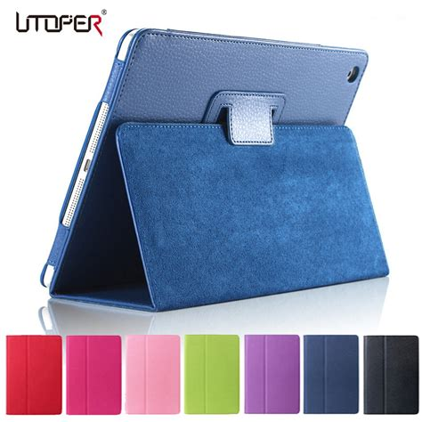 Book Cover Smart Flip 2 3 Wallet Softcase Leather 1 for mini matte soft flip litchi pu leather for apple mini 1 2 3 coque cover smart