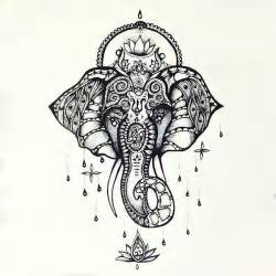 beautiful buddhist elephant tattoo design