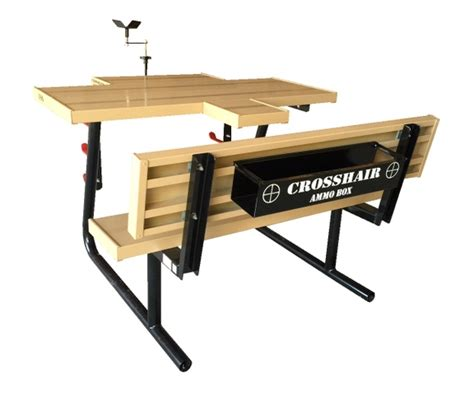 aluminum shooting bench crosshair ii aluminum shooting table tct classifieds