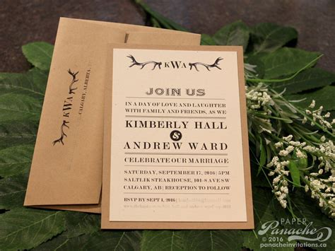 diy wedding invitations calgary rustic wedding invitations paper panache invitations design