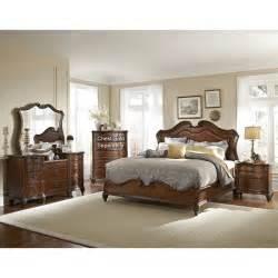 king bedroom sets image: marisol brown  piece cal king bedroom set