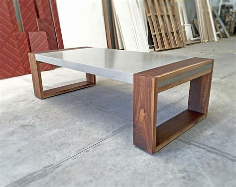 how to a concrete table polished concrete and walnut coffee table projects