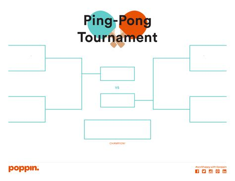 table tennis tournament template for national at work day or really any day host