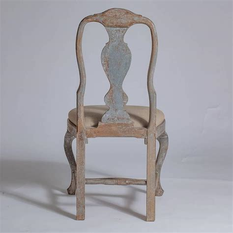 Rococo Dining Chairs Set Of Six Swedish Rococo Style Dining Chairs Late 19th Century At 1stdibs