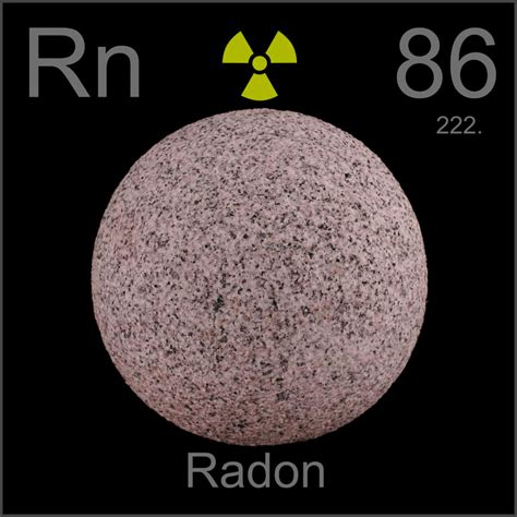 Which Country S Granite Has Less Radon - granite sphere a sle of the element radon in the