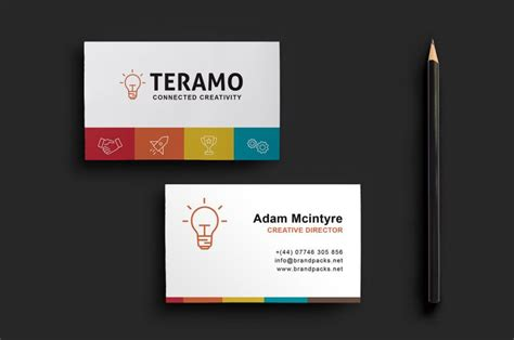 sided business card template illustrator clean and professional sided business card template the creative feed