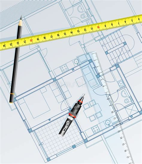 draw blueprints free blueprint draw royalty free stock photo image 7561075