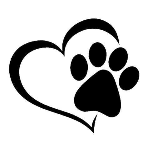 aliexpress com buy 14 1 12 4cm love the dog paw print