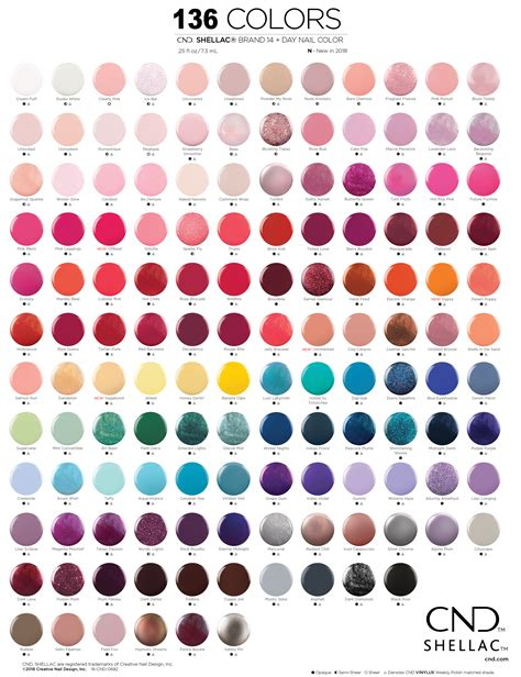 shellac colors chart buy 24 cnd shellac shades get free cnd led l 1