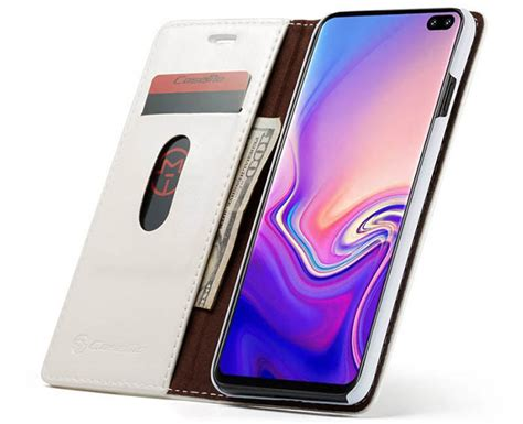 caseme samsung galaxy s10 plus wallet stand magnetic white