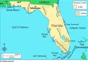 florida elevation map