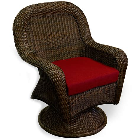 tortuga outdoor lexington wicker dining swivel chair wickercentralcom
