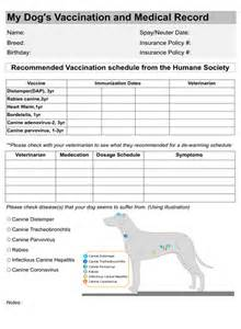 vaccination record template printable vaccination record breeds picture