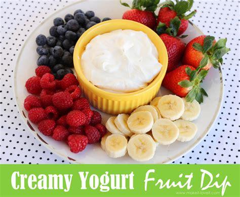 creamy greek yogurt fruit dip make it and love it