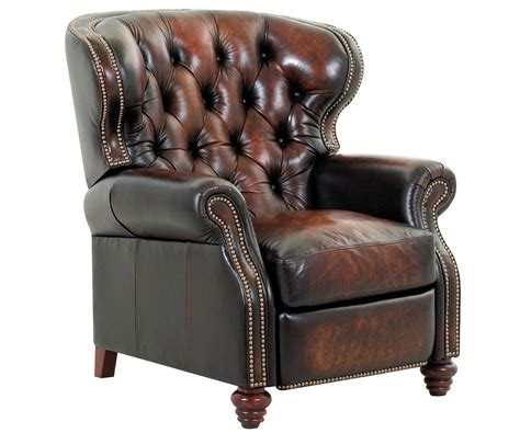 recliner wingback chairs arthur old world chesterfield style wingback leather