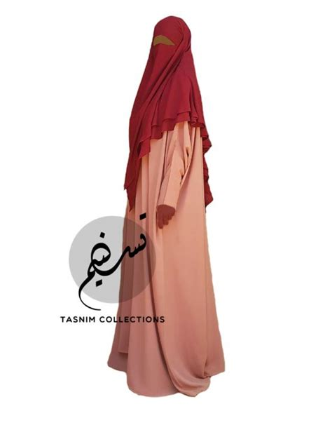 Khimar Chiffon Two Layer Chiffon Khimar Amirah Medium Tasnim Collections