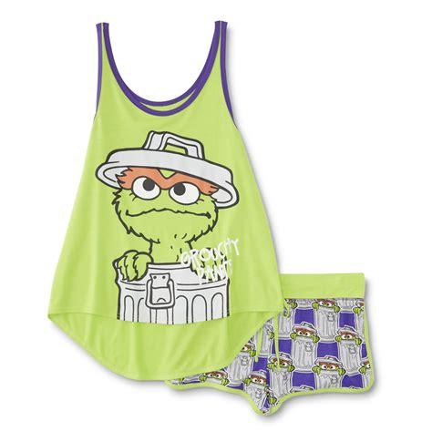Pajamas Sesame sesame oscar the grouch s pajama tank top