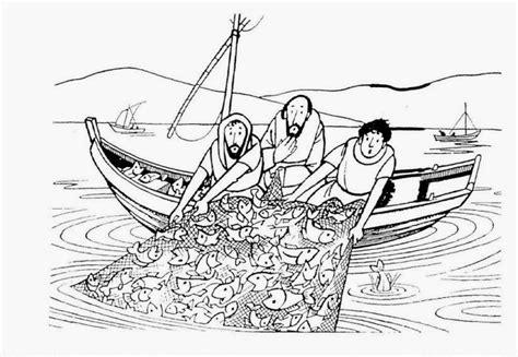 dibujos para colorear de la pesca milagrosa pesca milagrosa para colorear imagui