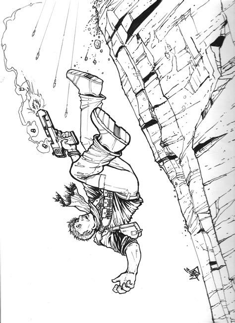Uncharted 4 Coloring Pages by Uncharted Black And White By Dganjamie On Deviantart