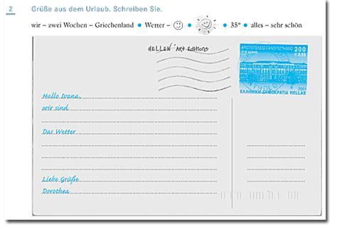 Briefe Schreiben Muster Daf Schritte International Als Fremdsprache Info