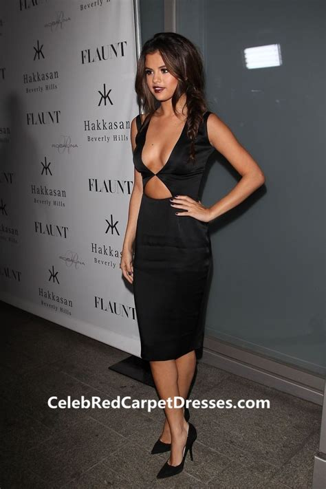 Will You Your Lbd For A Purple Version This Aw by Selena Gomez Black Cocktail Dress Flaunt